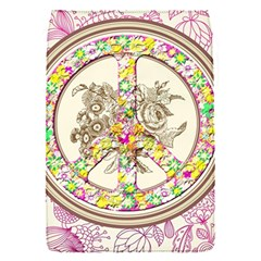 Peace Logo Floral Pattern Flap Covers (S)