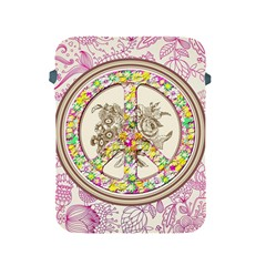 Peace Logo Floral Pattern Apple iPad 2/3/4 Protective Soft Cases