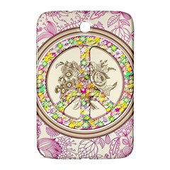 Peace Logo Floral Pattern Samsung Galaxy Note 8.0 N5100 Hardshell Case