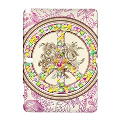 Peace Logo Floral Pattern Galaxy Note 1