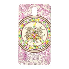 Peace Logo Floral Pattern Samsung Galaxy Note 3 N9005 Hardshell Back Case
