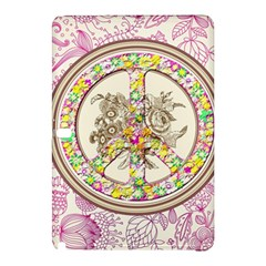 Peace Logo Floral Pattern Samsung Galaxy Tab Pro 10.1 Hardshell Case