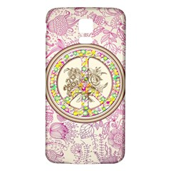 Peace Logo Floral Pattern Samsung Galaxy S5 Back Case (White)