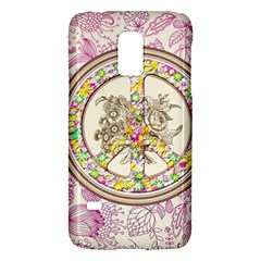 Peace Logo Floral Pattern Galaxy S5 Mini