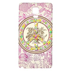 Peace Logo Floral Pattern Galaxy Note 4 Back Case