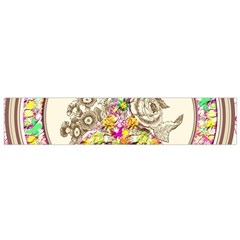 Peace Logo Floral Pattern Flano Scarf (small)