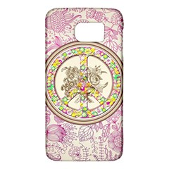 Peace Logo Floral Pattern Galaxy S6