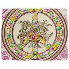 Peace Logo Floral Pattern Jigsaw Puzzle Photo Stand (Rectangular)