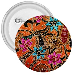 Colorful The Beautiful Of Art Indonesian Batik Pattern 3  Buttons