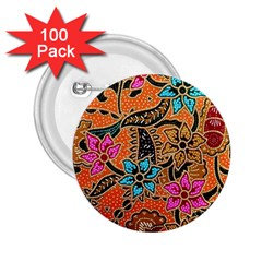 Colorful The Beautiful Of Art Indonesian Batik Pattern 2.25  Buttons (100 pack)