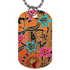 Colorful The Beautiful Of Art Indonesian Batik Pattern Dog Tag (Two Sides)