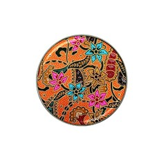 Colorful The Beautiful Of Art Indonesian Batik Pattern Hat Clip Ball Marker (4 Pack)