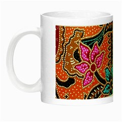 Colorful The Beautiful Of Art Indonesian Batik Pattern Night Luminous Mugs