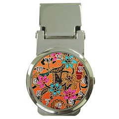 Colorful The Beautiful Of Art Indonesian Batik Pattern Money Clip Watches