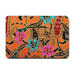 Colorful The Beautiful Of Art Indonesian Batik Pattern Small Doormat