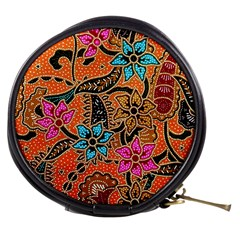 Colorful The Beautiful Of Art Indonesian Batik Pattern Mini Makeup Bags