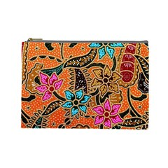 Colorful The Beautiful Of Art Indonesian Batik Pattern Cosmetic Bag (large)