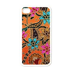 Colorful The Beautiful Of Art Indonesian Batik Pattern Apple iPhone 4 Case (White)