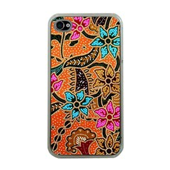 Colorful The Beautiful Of Art Indonesian Batik Pattern Apple iPhone 4 Case (Clear)