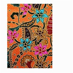 Colorful The Beautiful Of Art Indonesian Batik Pattern Large Garden Flag (Two Sides)