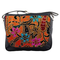 Colorful The Beautiful Of Art Indonesian Batik Pattern Messenger Bags
