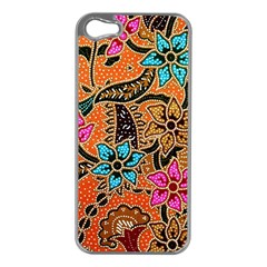 Colorful The Beautiful Of Art Indonesian Batik Pattern Apple iPhone 5 Case (Silver)