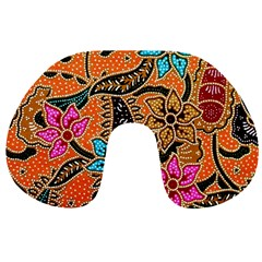 Colorful The Beautiful Of Art Indonesian Batik Pattern Travel Neck Pillows