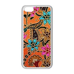 Colorful The Beautiful Of Art Indonesian Batik Pattern Apple iPhone 5C Seamless Case (White)