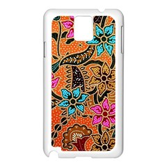Colorful The Beautiful Of Art Indonesian Batik Pattern Samsung Galaxy Note 3 N9005 Case (white)