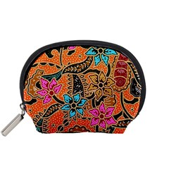 Colorful The Beautiful Of Art Indonesian Batik Pattern Accessory Pouches (Small)