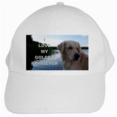 Golden Retriver Love W Pic White Cap