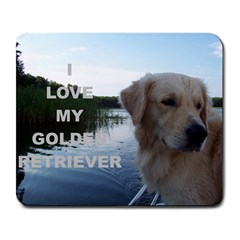 Golden Retriver Love W Pic Large Mousepads