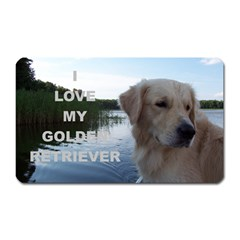 Golden Retriver Love W Pic Magnet (Rectangular)