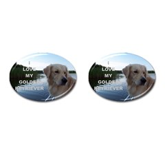 Golden Retriver Love W Pic Cufflinks (Oval)
