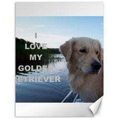 Golden Retriver Love W Pic Canvas 12  x 16