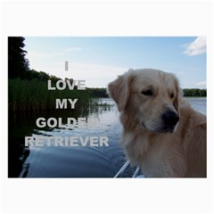 Golden Retriver Love W Pic Large Glasses Cloth (2-Side)