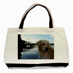 Golden Retriver Love W Pic Basic Tote Bag (Two Sides)