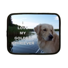 Golden Retriver Love W Pic Netbook Case (Small)