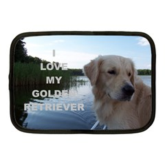 Golden Retriver Love W Pic Netbook Case (Medium)