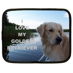 Golden Retriver Love W Pic Netbook Case (Large)