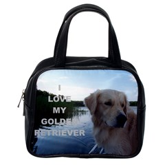 Golden Retriver Love W Pic Classic Handbags (One Side)