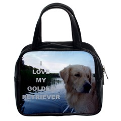 Golden Retriver Love W Pic Classic Handbags (2 Sides)