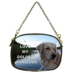 Golden Retriver Love W Pic Chain Purses (Two Sides)