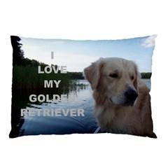 Golden Retriver Love W Pic Pillow Case