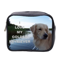 Golden Retriver Love W Pic Mini Toiletries Bag 2-Side