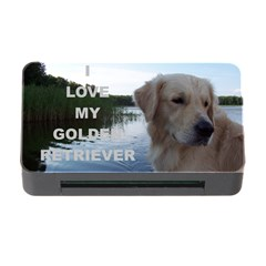 Golden Retriver Love W Pic Memory Card Reader with CF