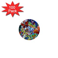 Color Butterfly Texture 1  Mini Buttons (100 pack)