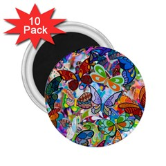 Color Butterfly Texture 2.25  Magnets (10 pack)