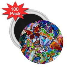 Color Butterfly Texture 2.25  Magnets (100 pack)