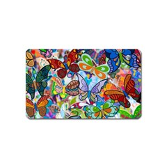 Color Butterfly Texture Magnet (Name Card)